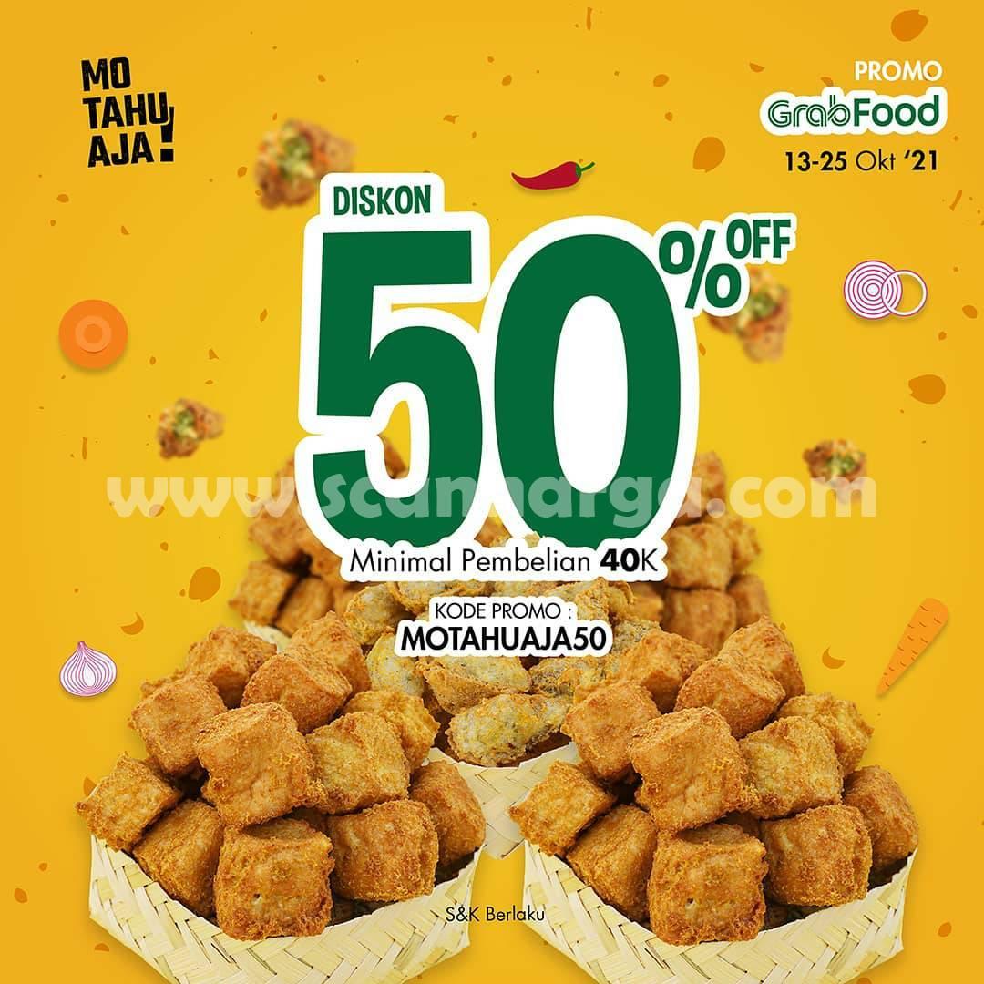 Promo Mo Tahu Aja 13 - 25 Oktober 2021, Diskon 50% via Grabfood