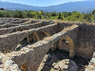 Monastery Agios Georgios, Karydi - old olive oil mill without a roof.