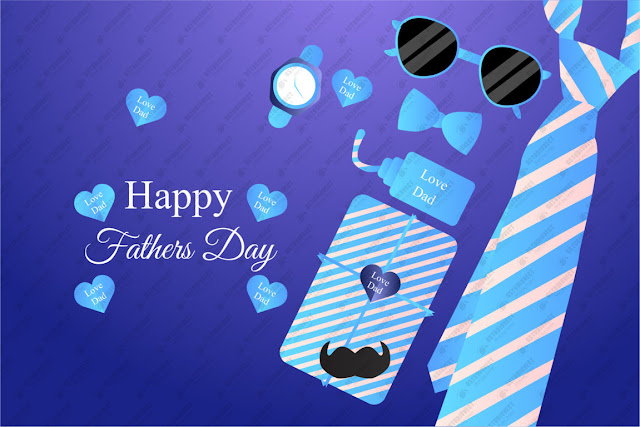 Happy father's day greeting card design vector download