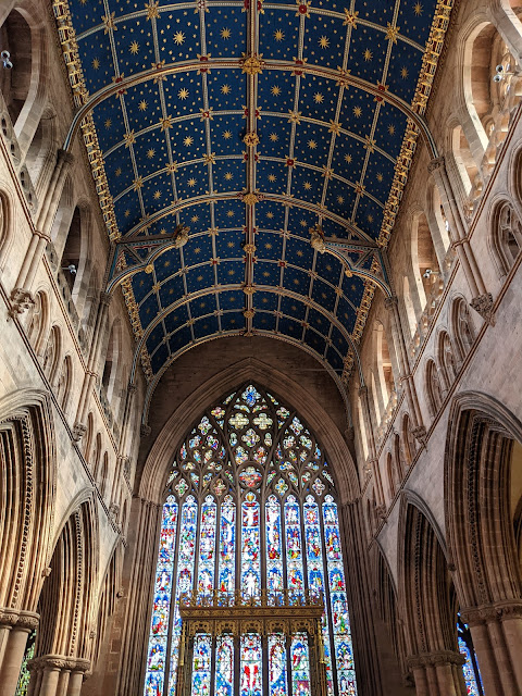 An Alternative Day Out in Cumbria | Ideas for Places to Visit  - Carlisle Cathedral Beautiful Ceiling