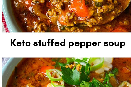 Keto stuffed pepper soup