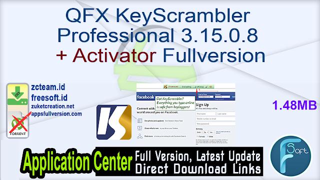 QFX KeyScrambler Professional 3.15.0.8 + Activator Fullversion