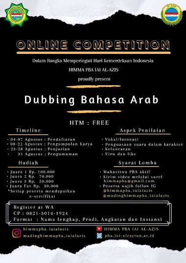 LOMBA DUBBING BAHASA ARAB - HIMMA PBA IAI AL-AZIS