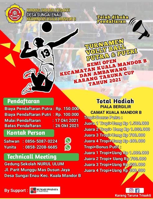 Turnamen  Volly Ball Karang Taruna Cup