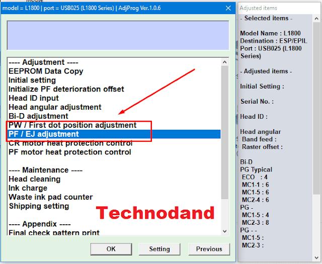 Cara Head Alignment Printer Epson Menggunakan Resetter