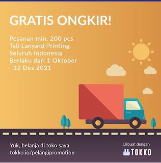 Promo Cetak Lanyard Gratis Biaya Kirim Ke seluruh Indonesia