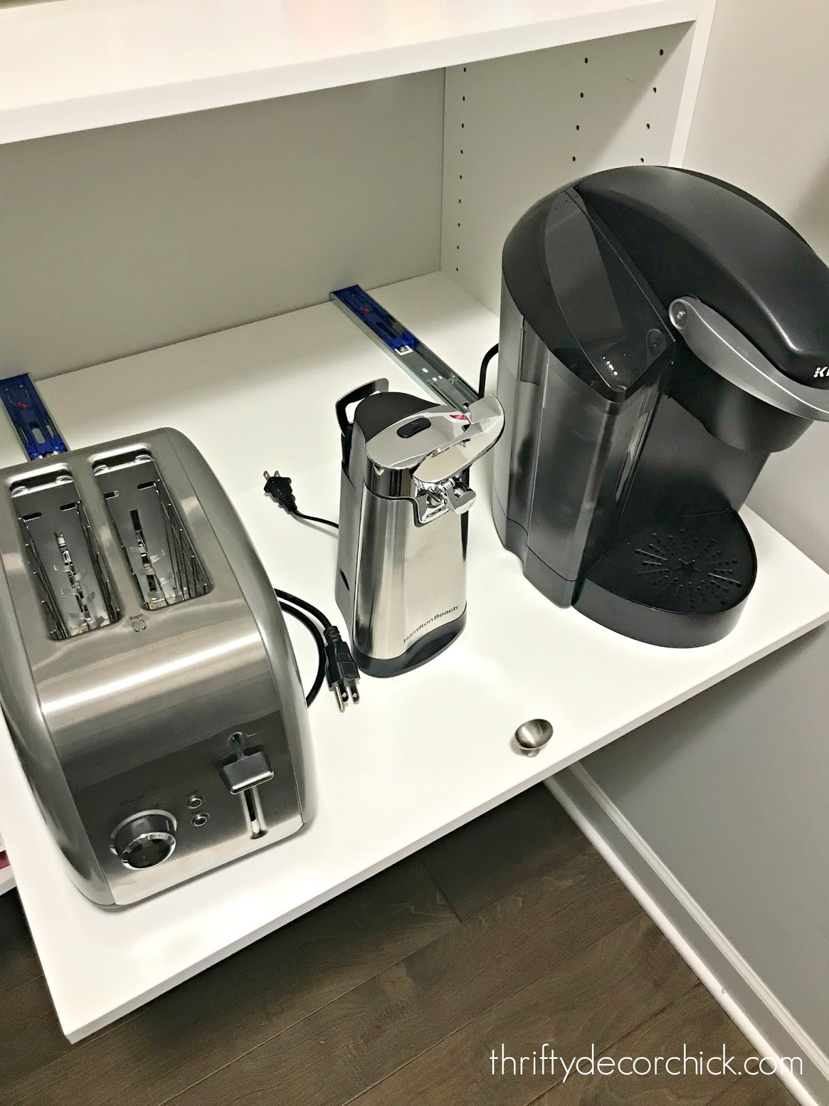 DIY pull out tray for appliances