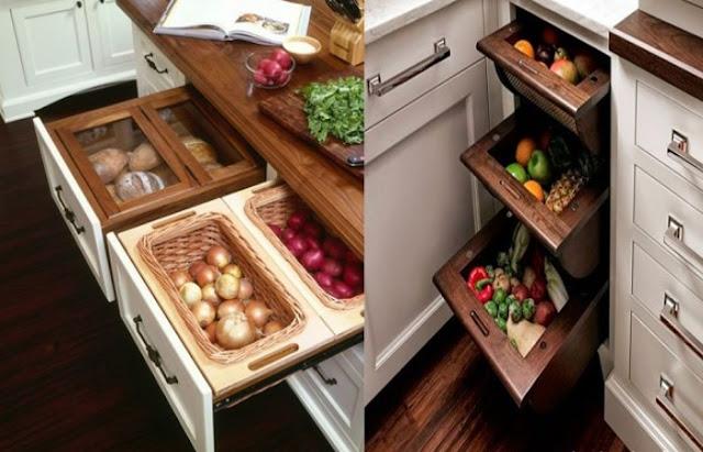 drawer design for kitchen