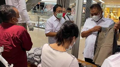 Gubernur Olly Tinjau Pusat Perbelanjaan Pastikan Penerapan Prokes