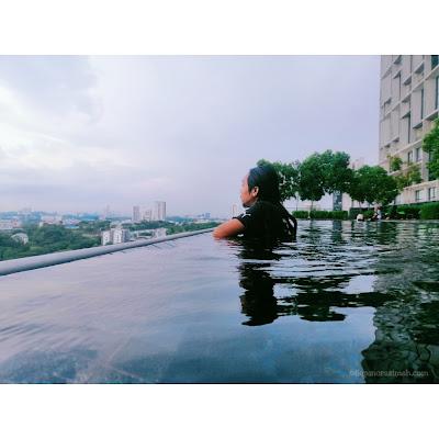 tamarind suites cyberjaya, staycation di tamarind suites, review studio room tamarind suites, tempat makan best tamarind square,