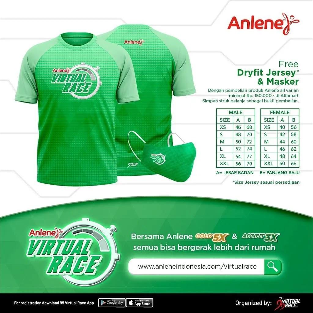 Jersey 👕 Anlene Indonesia Virtual Race • 2021
