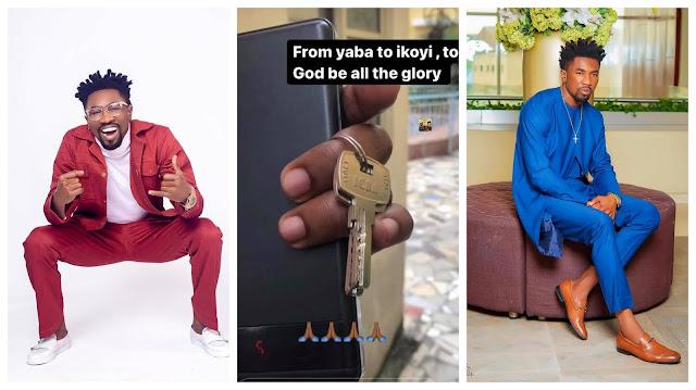 From Yaba to Ikoyi- BBNaija star Boma celebrates as he moves to his new house