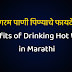 गरम पाणी पिण्याचे काय फायदे आहेत? Benefits of Drinking Hot water in Marathi