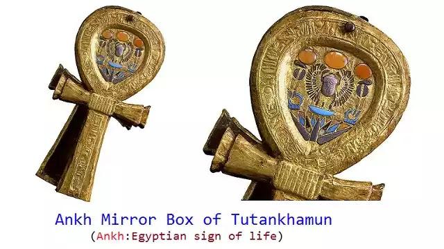 Ankh Mirror Box of Tutankhamun