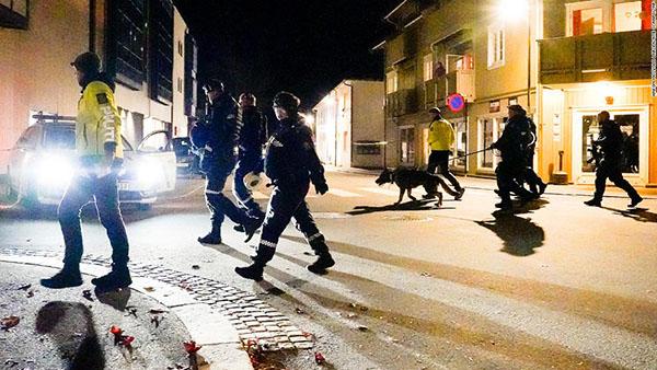 bên ngoài Oslo của Na Uy vào hôm thứ Tư, giết chết 5 người