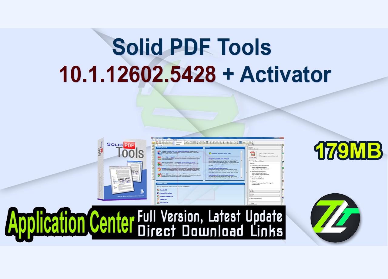 Solid PDF Tools 10.1.12602.5428 + Activator