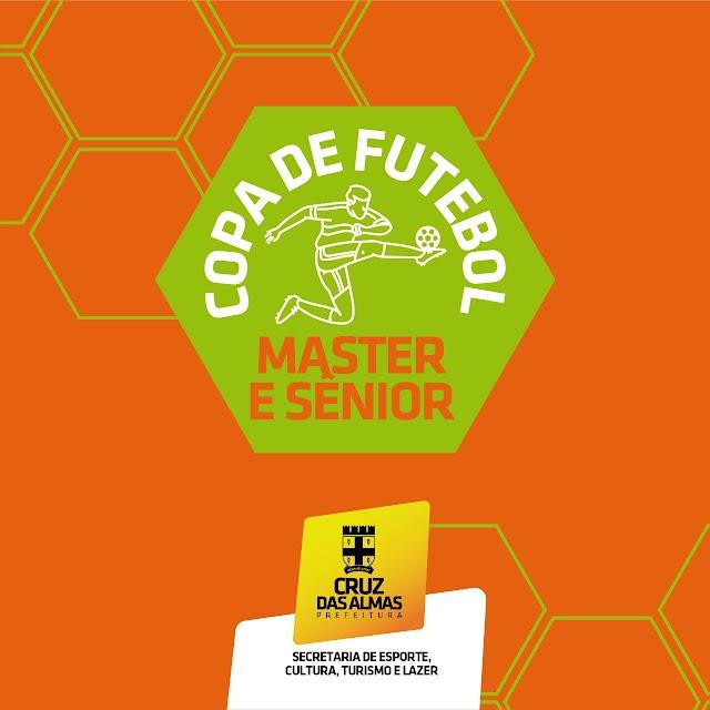 Copa de Futebol Master e Sênior começa no próximo domingo (17)