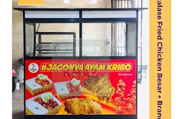 Etalase Fried Chicken Alumunium / Booth Fried Chicken buat jualan ayam tepung sepaket