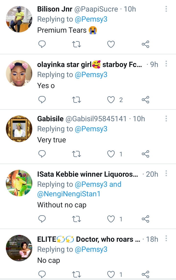 BBNaija: This is our real top 5 - Nigerians react to trending picture of Emmanuel, Pere, Whitemoney, Liquorose, and Cross