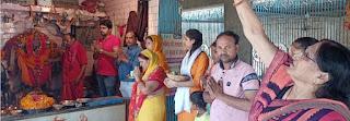 नवरात्र के तीसरे दिन भी दर्शन-पूजन के लिए भक्तों की रही भीड़  | #NayaSaberaNetwork