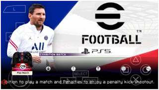 Download eFootball PES 2022 PPSSPP New Transfer Season 2021/2022 & Update Menu Best Graphics