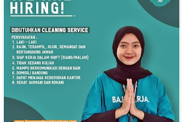 Loker Bandung Cleaning Service Source Group