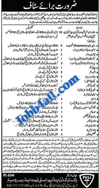 PKLI Job in Pak 2021