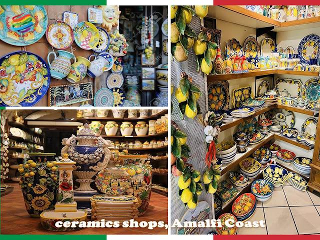 Ceramics shops, Amalfi Coast