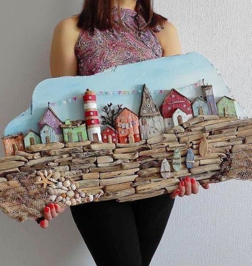 Handmade Driftwood Villages