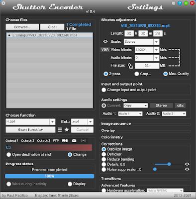 Tampilan Aplikasi Shutter Encoder v1.5.4
