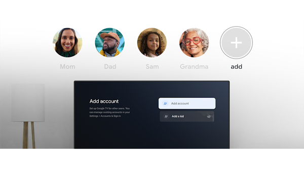 Google TV começa a lançar perfis de utilizadores