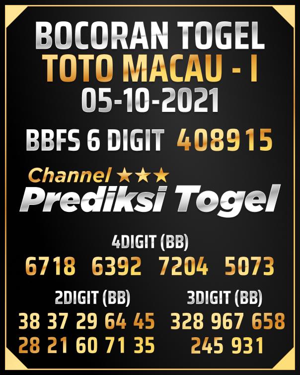 Angka Jitu Toto Macau P1
