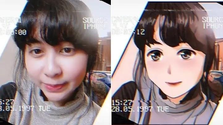 ubah foto dan video jadi anime di tiktok