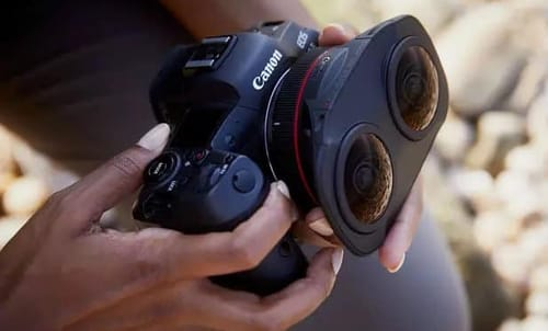 Canon has a dual fisheye lens for virtual reality systems