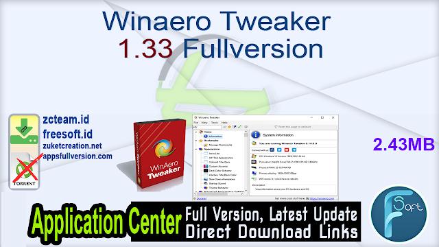 Winaero Tweaker 1.33 Fullversion