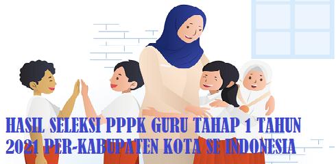 Link Download Pengumuman Hasil Seleksi PPPK Guru Tahap 1 Tahun 2021 Se Indonesia