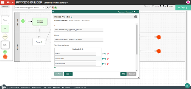Added additional workflow variables to be populated during transaction later on