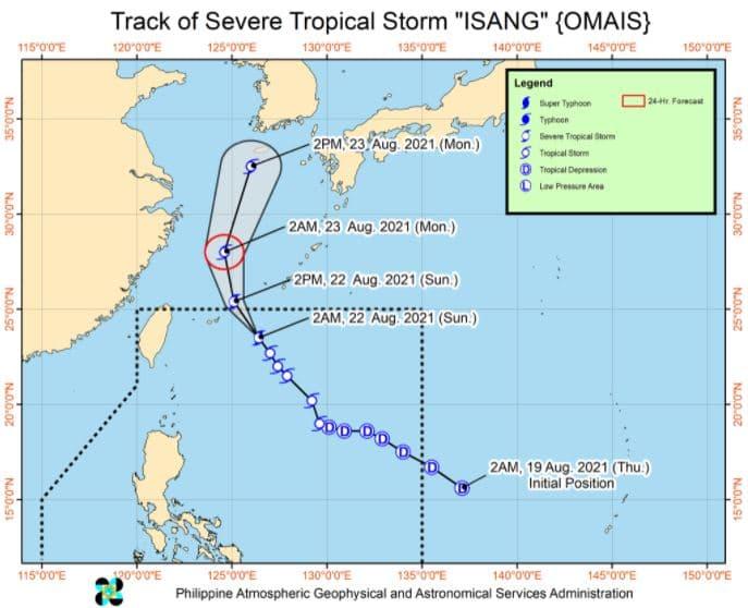 'Bagyong Isang' PAGASA track