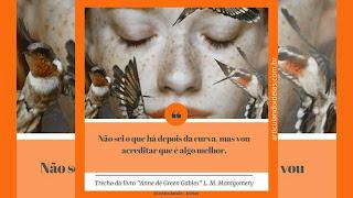 Citação do livro Anne de Green Gables