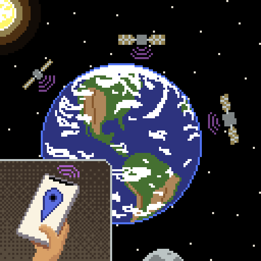 Pixel art created for Octobit. Day 6: It came from outer space