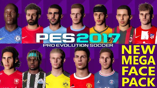 احدث باك اوجه جديدة لبيس 2017 موسم 2022 | PES2017 | MEGA FACEPACK NEW SEASON 2022