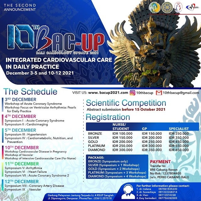 """(Workshop and Symposium) The 10th BAC-UP virtual meeting """"Integrated Cardiovascular Care in Daily Practice"""""""