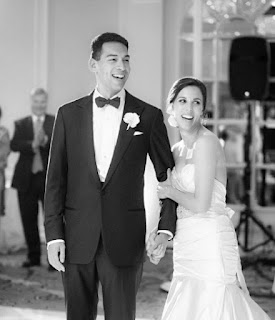 Morgan Holt with her hubby Stefan Holt in their wedding dress
