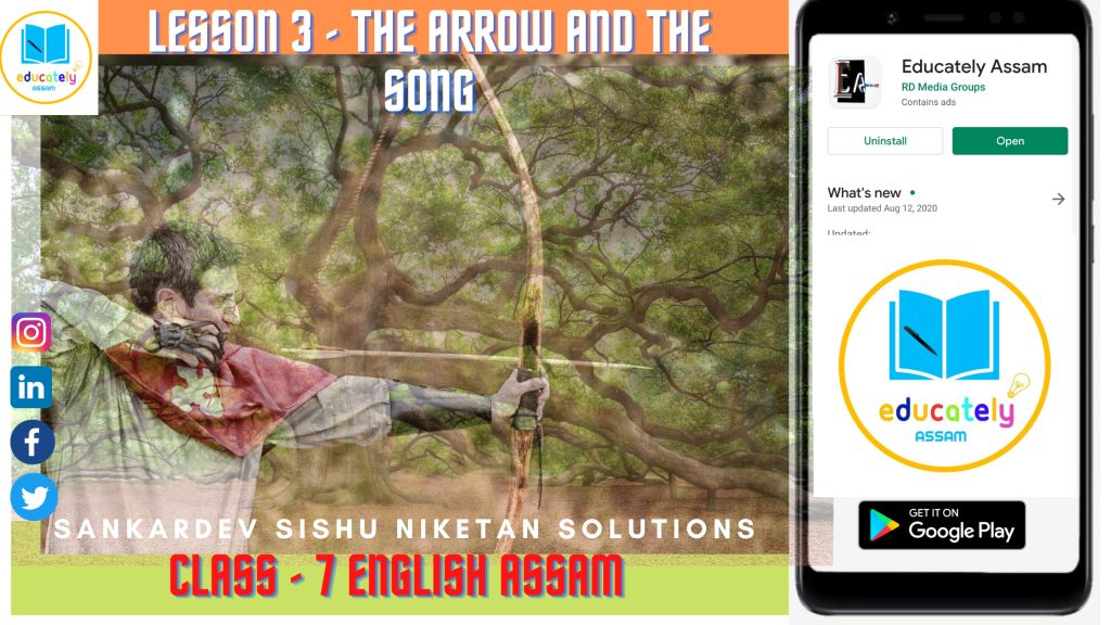 The Arrow and the Song poem Questions and Answers Class 7 English