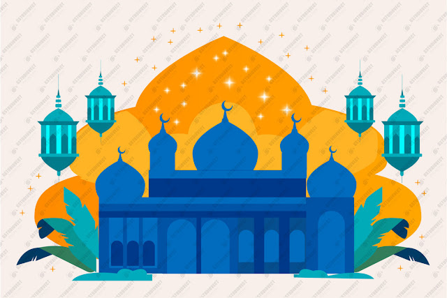 Realistic ramadan kareem illustration free vector download