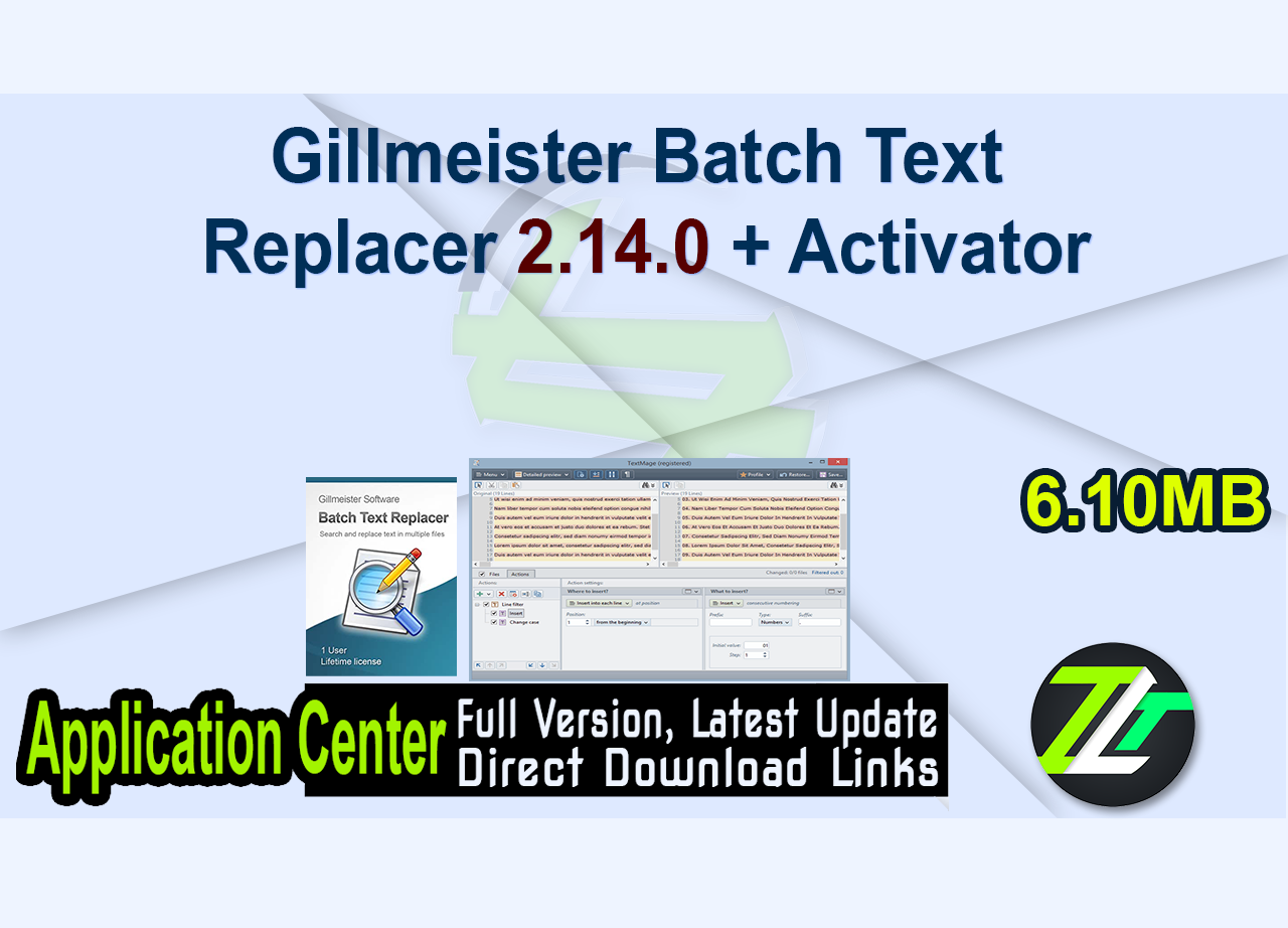 Gillmeister Batch Text Replacer 2.14.0 + Activator
