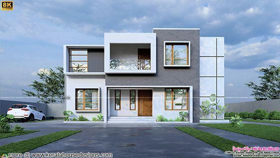 Elegant looking contemporary house in 8K ultra HD rendering