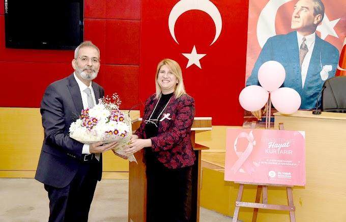 DOKTOR BELEDİYE BAŞKANI'NDAN KADINLARA YÖNELİK MEME KANSERİ SUNUMU