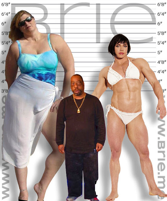 Beetlejuice height comparison with Skytriss and Rene Campbell