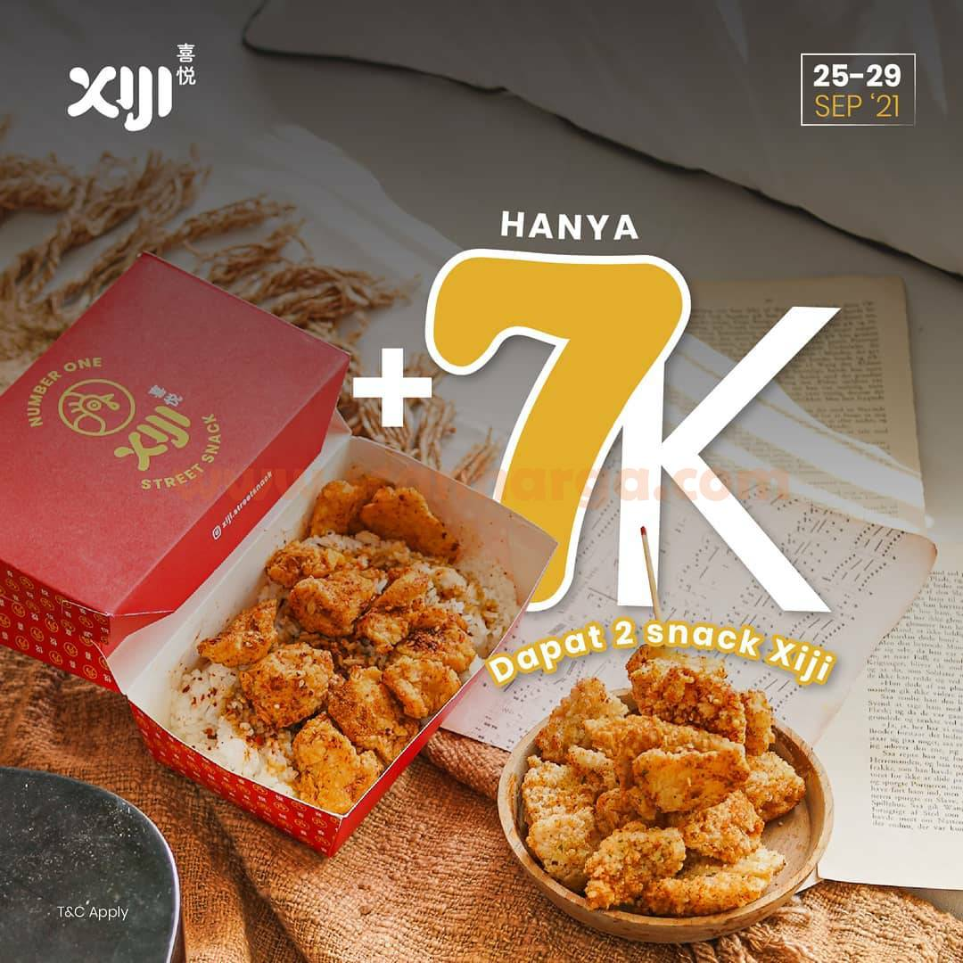 XIJI Promo cuma Tambah +Rp 7.000 GRATIS 2 Snack